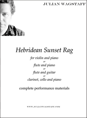Hebridean Sunset Rag - sheet music from Scotland (Julian Wagstaff)